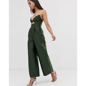 Asos Design Structured Jumpsuit with Wide Leg